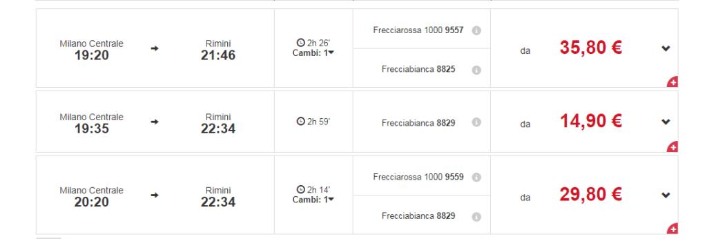 Расписание поезда Trenitalia