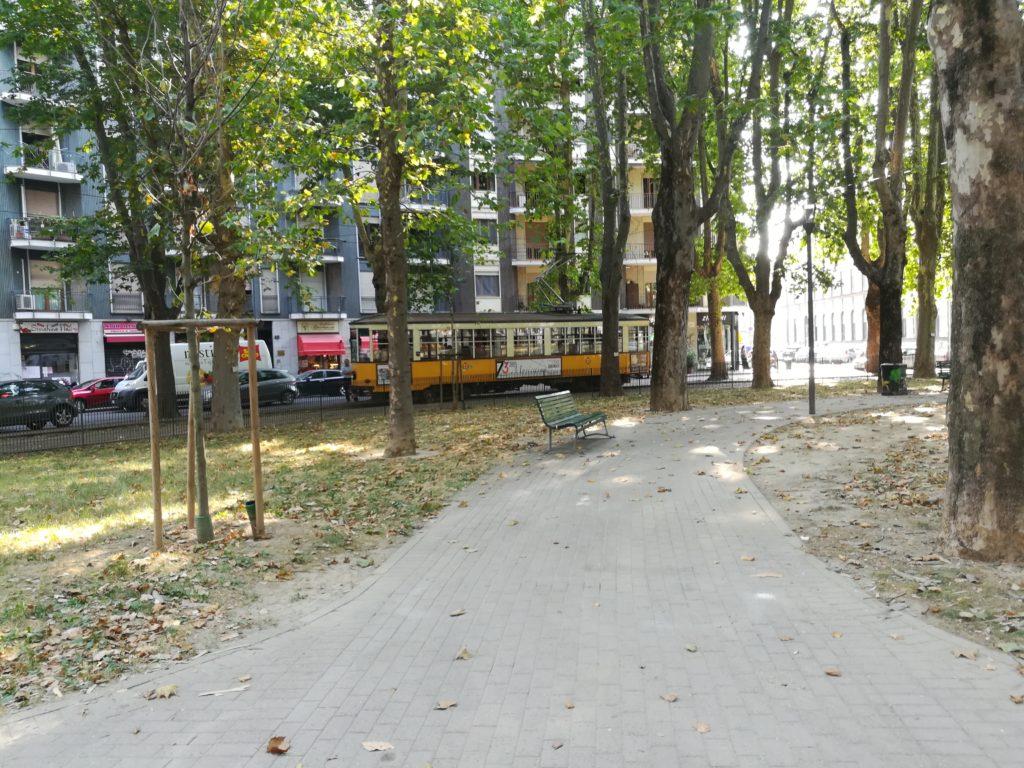 Ретро трамвай в Милане, Италия