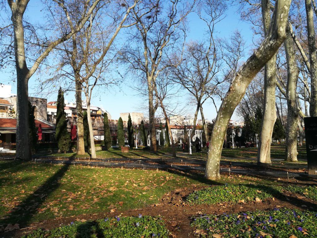 Парк Гюльхане в декабре, Стамбул, Турция
