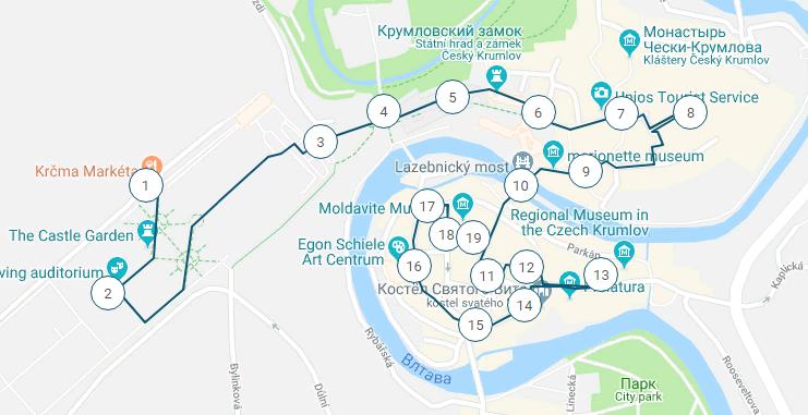 Маршрут по городу Чешский Крумлов