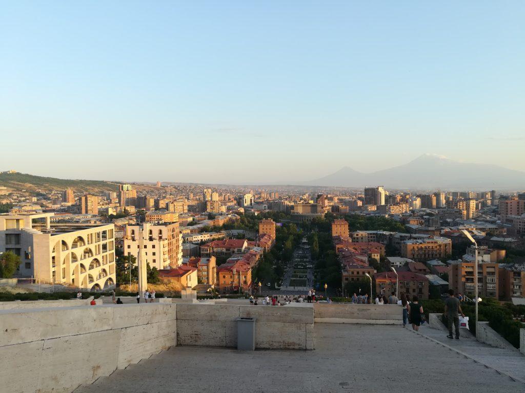 Ереван, вид на город с Каскада