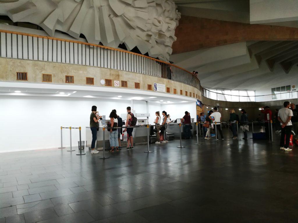 Стойки регистрации в аэропорту Гюмри